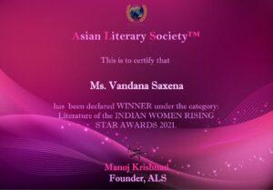 Vandana Saxena Writer